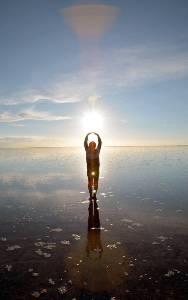 Уюни - солёное озеро в Боливии