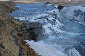 Исландия, водопад Гюдльфосс