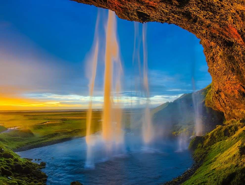 Исландия, водопад Скоугафосс