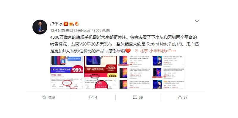 Honor View 20 против Redmi Note 7: кто продал больше?